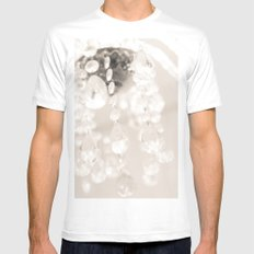 Crystals II Mens Fitted Tee MEDIUM White