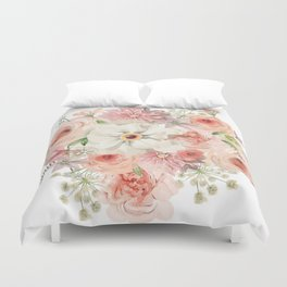 watercolor flowers Duvet Cover
