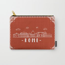 Rome Italy - Terracotta Line Art Carry-All Pouch