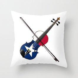 Texas Fiddle Throw Pillow