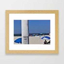 Touch  the Pole Framed Art Print
