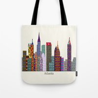 atlanta Tote Bags featuring Atlanta city  by bri.buckley