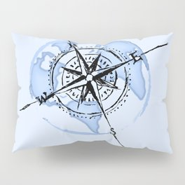 Compass Pillow Sham