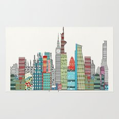London city skyline  Rug