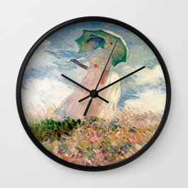 Claude Monet's Woman with a Parasol, Study Wall Clock