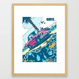 Siesta Beach 2 Framed Art Print