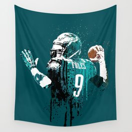 AMERICAN FOOTBALL PLAYER #on GREEN #eagles #NICK FOLES Wall Tapestry