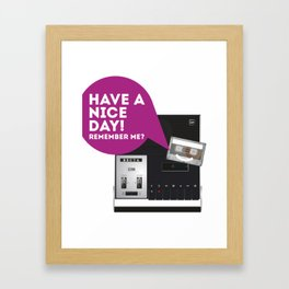 Keep Your Cassette Player Framed Art Print