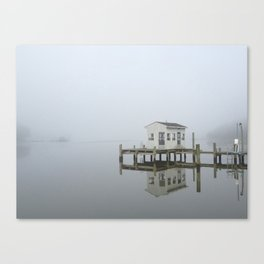 Eastern Branch Boat House Canvas Print