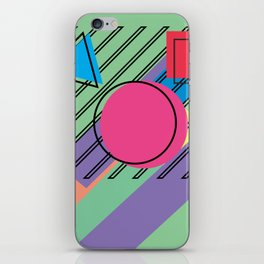 90s Retro Colored Shapes v4 iPhone Skin