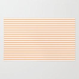Bright Orange Russet Mattress Ticking Narrow Striped Pattern - Fall Fashion 2018 Rug