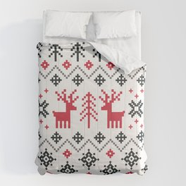 HOLIDAY SWEATER PATTERN Comforters