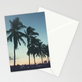 Tropical sunsets Stationery Cards