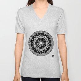 Elilia Silver Fern Mandala Unisex V-Neck