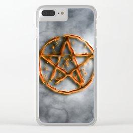 Supernatural devil's trap Clear iPhone Case