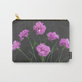 Pinks on Slate Carry-All Pouch