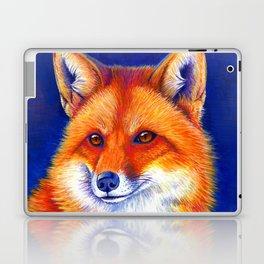 Colorful Red Fox Portrait Laptop & iPad Skin