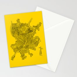 Pittsburgh Neighborhoods | Black and Gold Stationery Cards