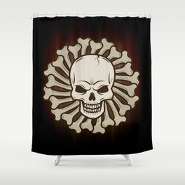 Angry skull Shower Curtain