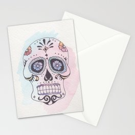 Watercolor Skull Stationery Cards