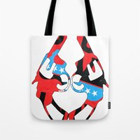 guns Tote Bags featuring Kong Guns by launa