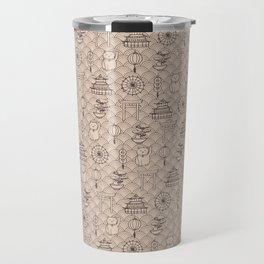 Retro asian pattern Travel Mug
