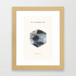 Minimalist Travel Poster - Baja California Sur, MX Framed Art Print