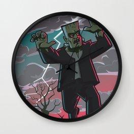 frankenstein creature in storm  Wall Clock