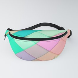 Simple Colorful Pastel Tiles Fanny Pack