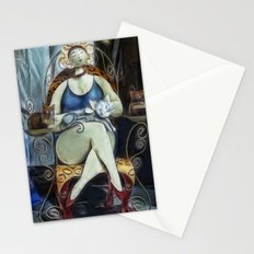 the Lady and the cats Stationery Cards