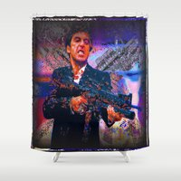 scarface Shower Curtains featuring scarface by Vector Art