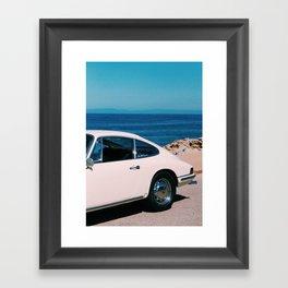 Porsche 912 on the Big Sur Framed Art Print