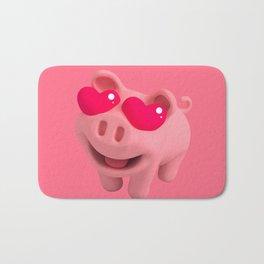 Rosa the Pig love Eyes Bath Mat