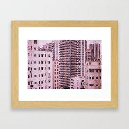 Hong Kong Pink City Framed Art Print