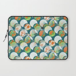 Mid Century Circles Abstract Suns and Moons Laptop Sleeve