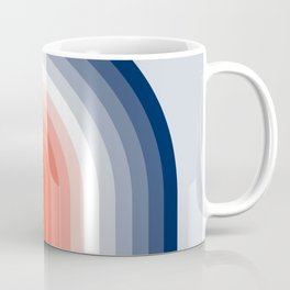 70s Stripes Rainbow Coffee Mug