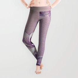 Purple Plumerias Ombre Leggings
