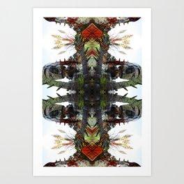 OR/WELL: Robotman VS Bird V2 Art Print