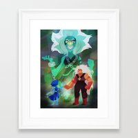 malachite Framed Art Prints featuring Malachite by Ana Amorim