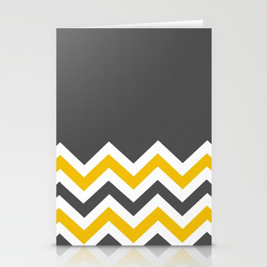 Color Blocked Chevron 14 Stationery Cards