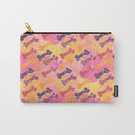 A series of strange animals.Crazy Dog .Such simple pleasures. Carry-All Pouch