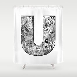Cutout Letter U Shower Curtain