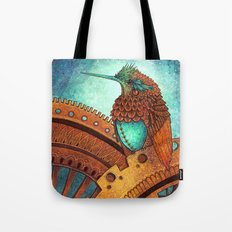 Clockwork Hummingbird Tote Bag