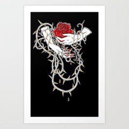 Brambled Hands Art Print