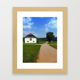 Peaceful countryside scenery | landscape photography Framed Art Print