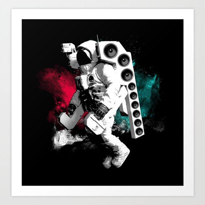 Basstronaut Art Print