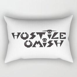Hostile Omish Classic Logo [Black] Rectangular Pillow