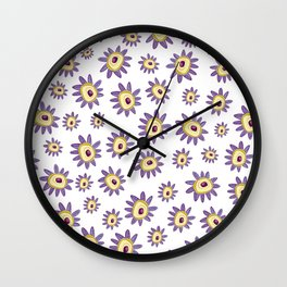 Pretty in Purple Wall Clock