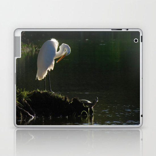 Egret at Evening Laptop & iPad Skin