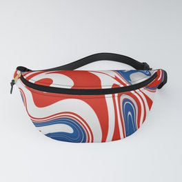 American Flag Marble Fanny Pack